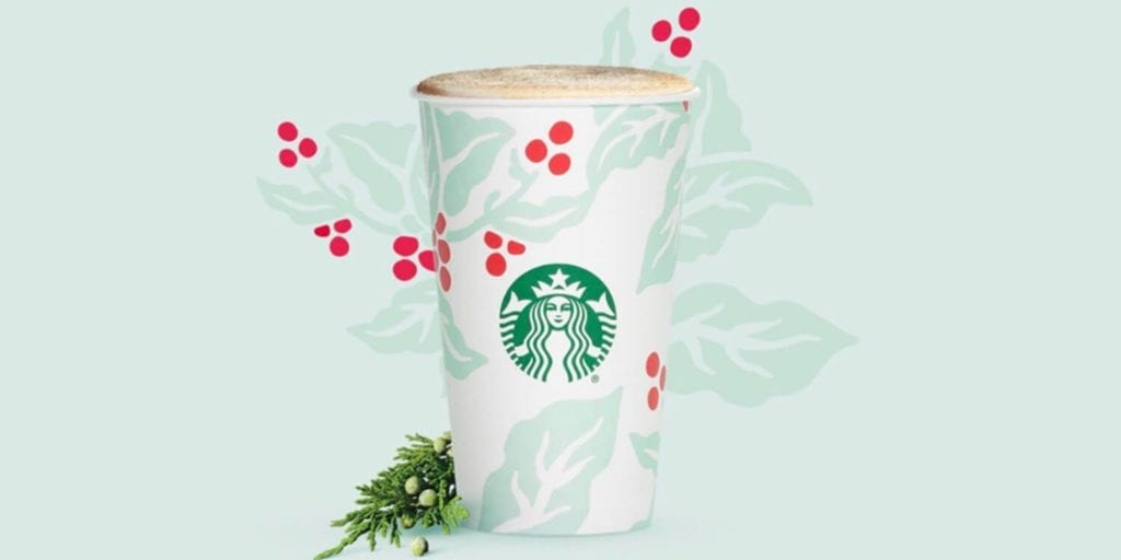 Starbucks Launches Super-Christmassy Juniper Latte - And It Can Be Vegan