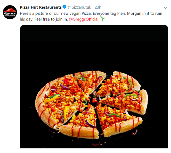 Food giants keep trolling Piers Morgan when they release a new vegan product