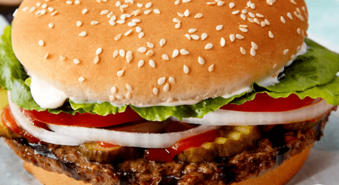 Burger king's impossible whopper burger