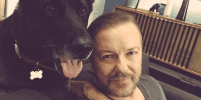 Ricky-Gervais-Keeps-Sharing-Powerful-Messages-Promoting-Compassion-For-Animals