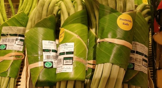 Food products rapped in banana leave to ditch plastic and save environment