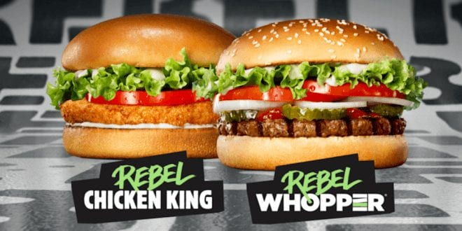 NEW plant-based Rebel Whopper released by Burger King in Brazil