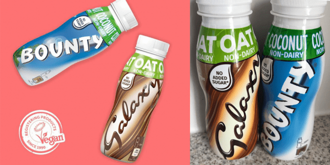 Bounty and Galaxy launch vegan milkshakes