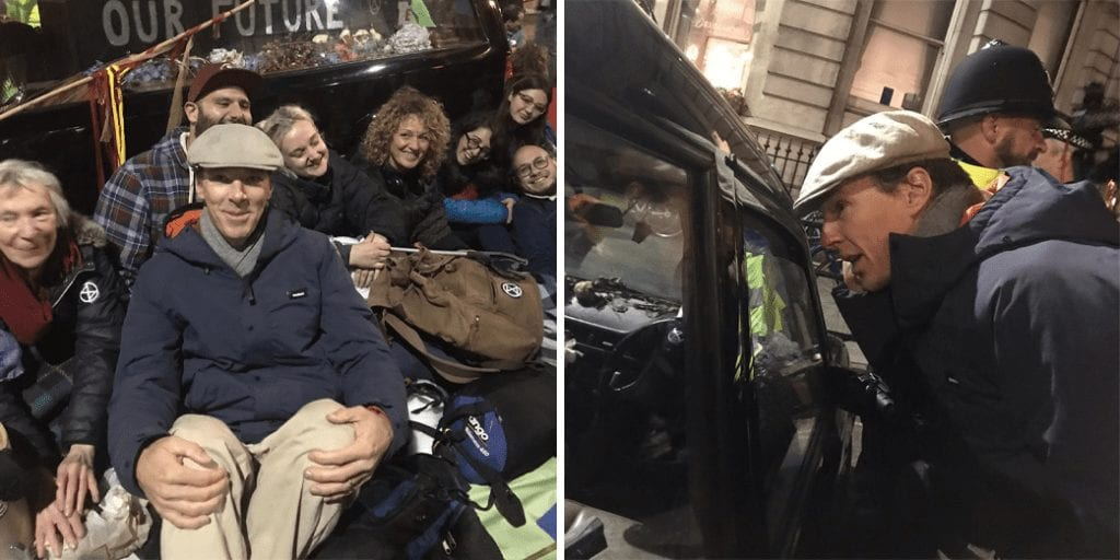 Benedict Cumberbatch joins Extinction Rebellion protests in London