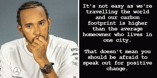 Lewis Hamilton defends environmental posts after claims of hypocrisy