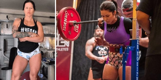 Vegan powerlifter breaks world record