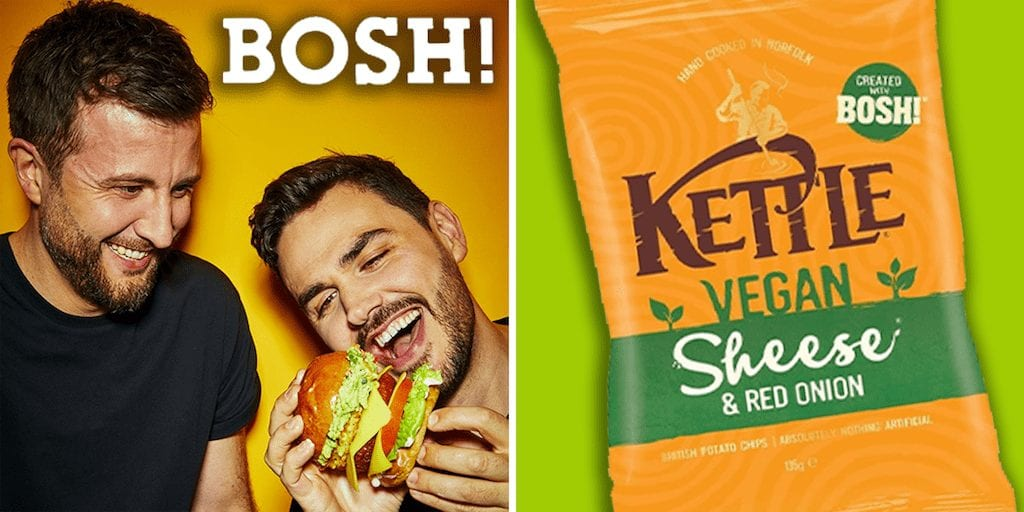BOSH! and Kettle Foods launch Vegan 'Sheese & Onion' Chips