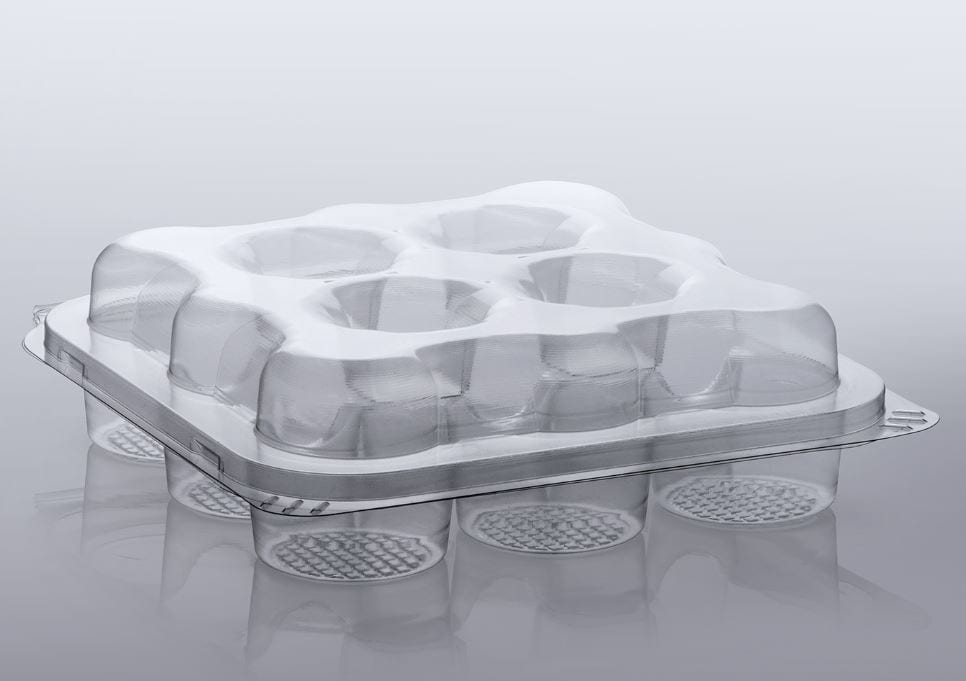 Recyclable PET cake tray from OGGS and Macpac