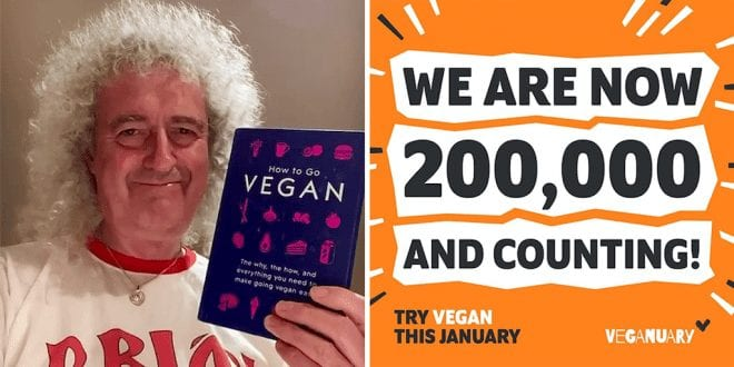 Brian May will ditch animal products for the Veganuary pledge