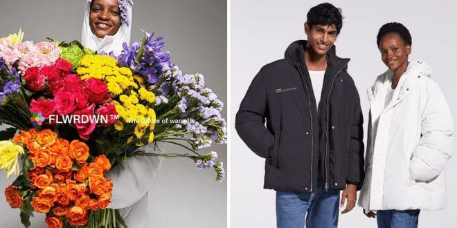 European fashion brand releases vegan down jacket made from flowers and recycled plastic