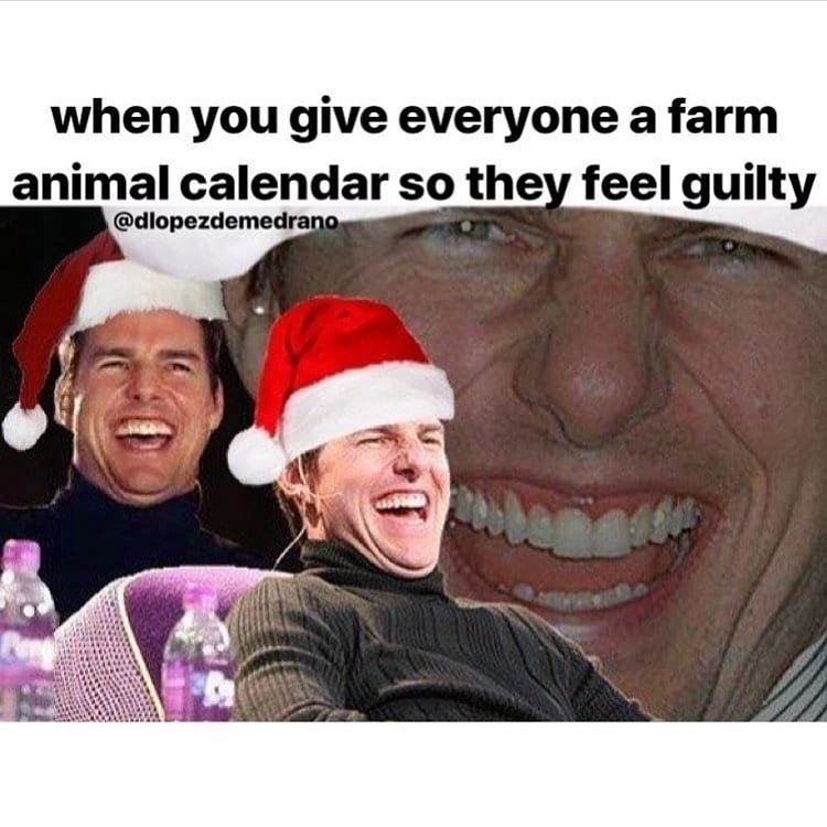 When you give everyone a farm animal calendar