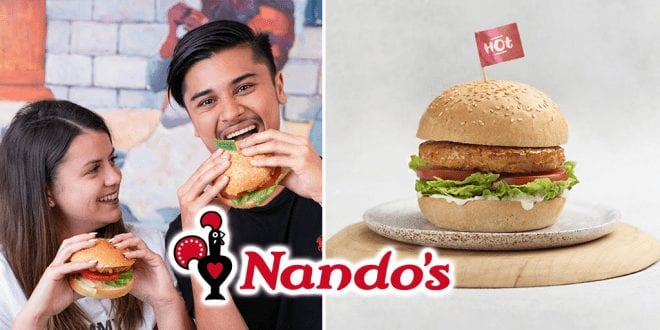 Nando's The great pretender plant based burger
