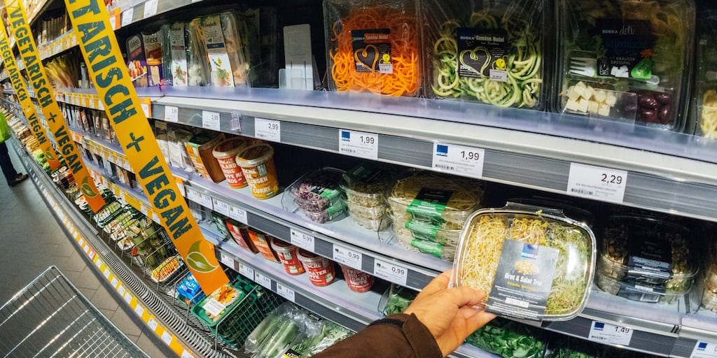 Vegan food accounted for 25% of all new product launches in the UK