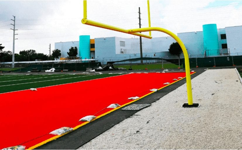 Adidas plastic recycle for football field