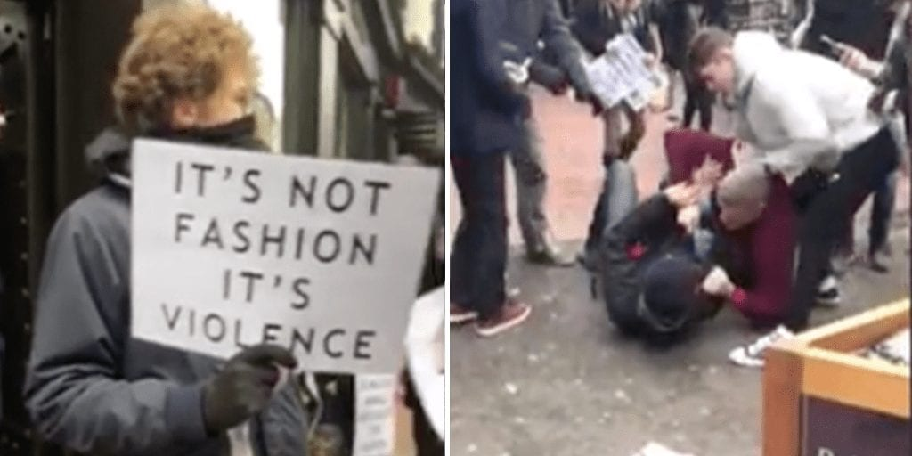 Brighton vegan activist attacked while protesting outside fur shop
