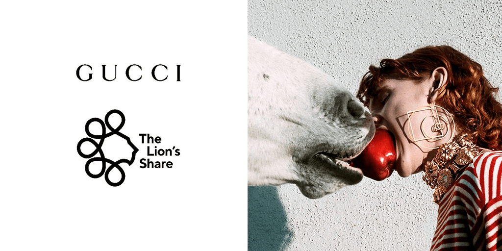 Gucci pledges to save wildlife by joining the Lion's Share Fund