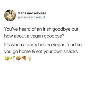 How about a vegan good bye