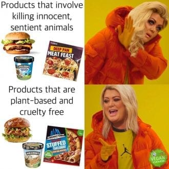 Products that kill vs Products that are plant based