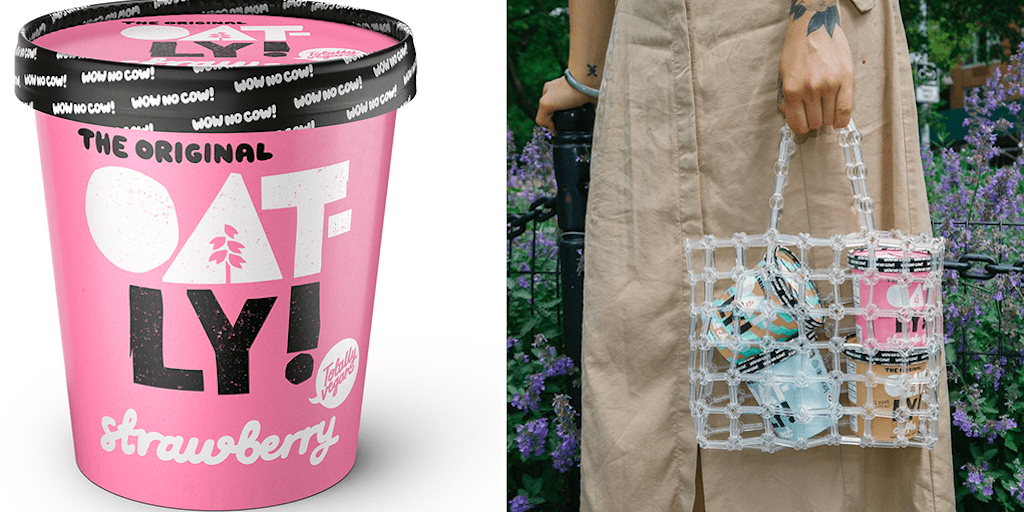 Oatly just launched its vegan strawberry ice cream at Tesco