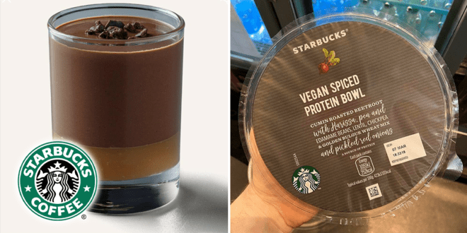 Starbucks UK launches vegan Caramel Chocolate Pots and Protein Bowls
