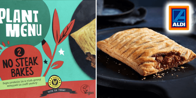 Aldi launches Greggs' inspired vegan steak bakes