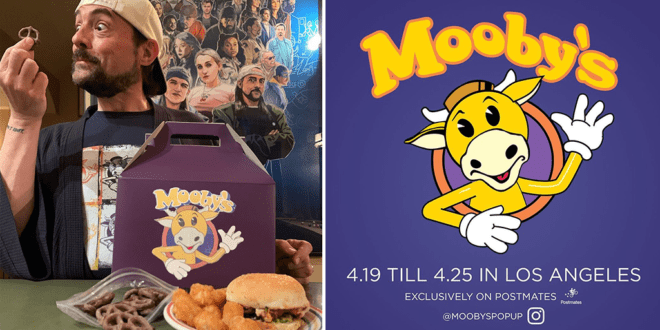Kevin Smith launches real-life vegan Mooby's to raise funds for coronavirus charity