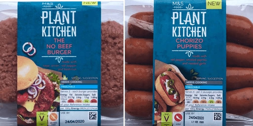 Marks & Spencer just launched vegan chorizos and no-beef burgers