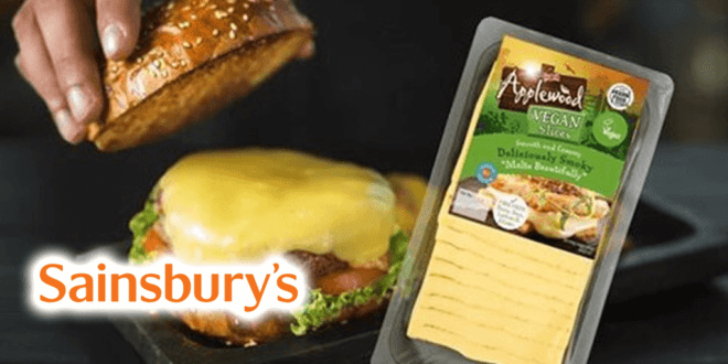 Sainsbury's to stock Applewood vegan cheese slices in June