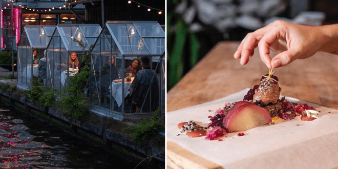 Vegan Amsterdam restaurant serves diners in quarantine greenhouses to maintain social distancing