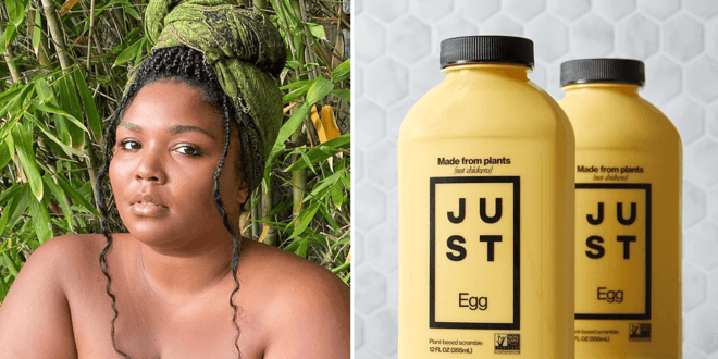 Lizzo makes vegan fried chicken and biscuit with Just Egg on TikTok