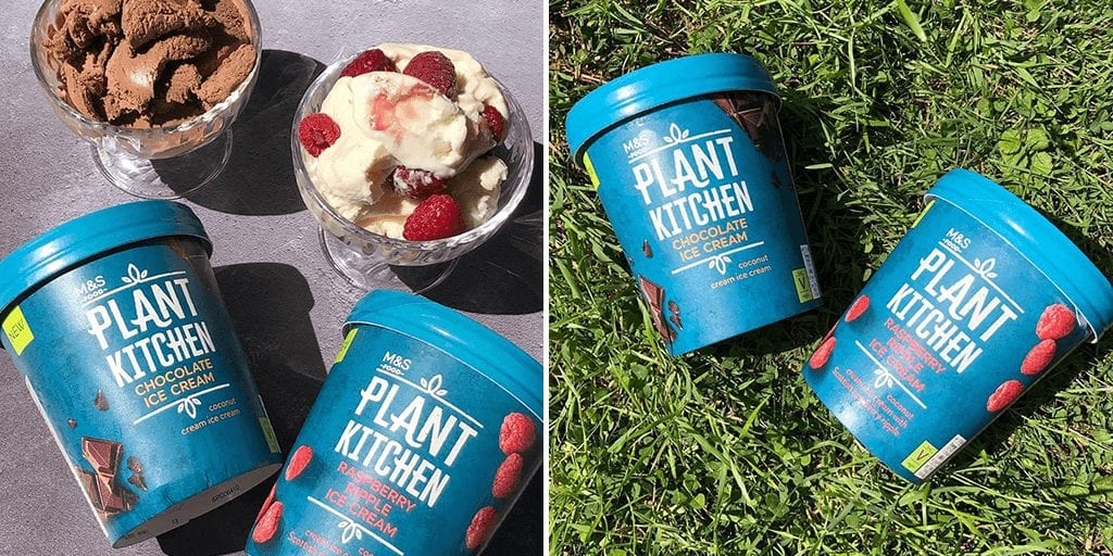 M&S just launched 2 new vegan ice-cream flavors in its plant kitchen range