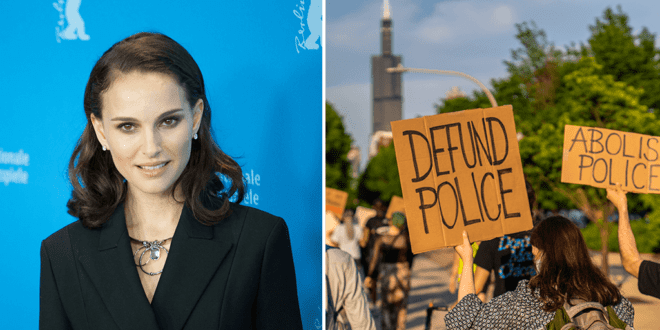 Natalie Portman supports calls of defunding the police to save black lives