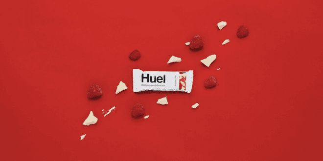 Huel just added a new vegan Raspberry & White Chocolate Snack Bar to range