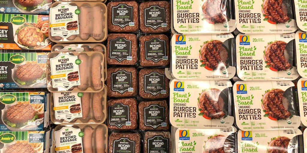 Plant-based meat sales spike by 23% when sold in meat aisles