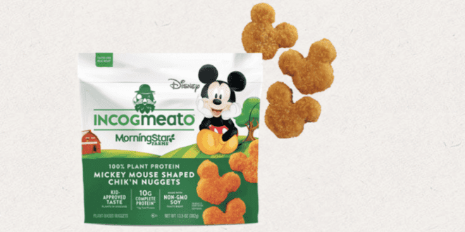 Kellogg's and Disney just launched Mickey-shaped vegan chicken nuggets in the U.S