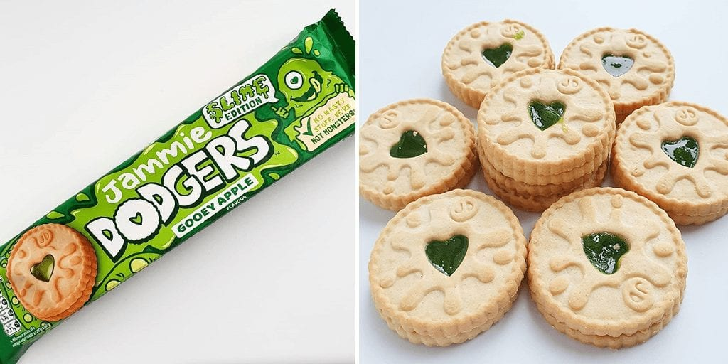 Jammie Dodgers just launched a slimy edition flavour for Halloween