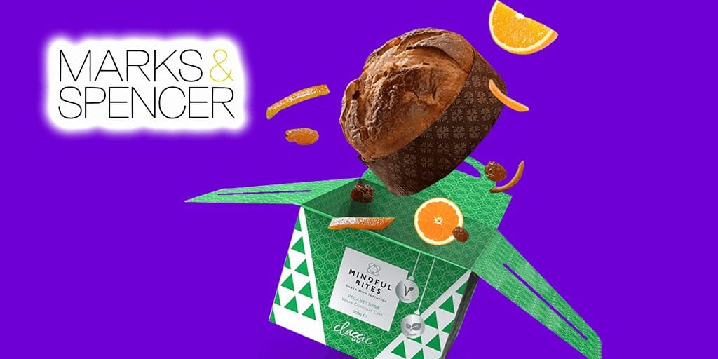 Organic vegan panettone cake launches at M&S for Christmas