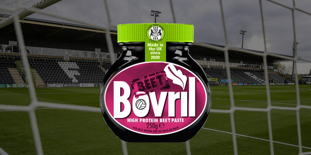 Iconic 'beef' Bovril goes vegan for football club Forest Green Rovers