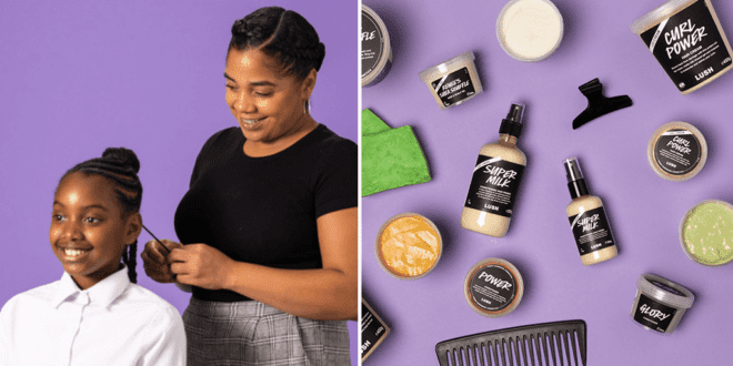 LUSH just launched a new vegan afro hair care range
