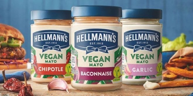 Hellmann's UK launches new vegan mayo range for Veganuary