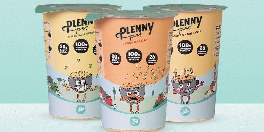 Sustainable food brand just launched first vegan Plenny Pot instant meals