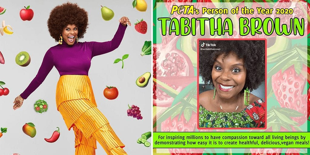 Vegan Actor Tabitha Brown is PETA 'Person of The Year'