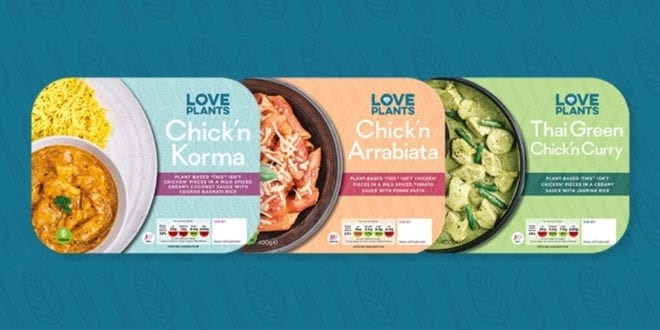Leading online supermarket launches ready plant meals with THIS Chicken