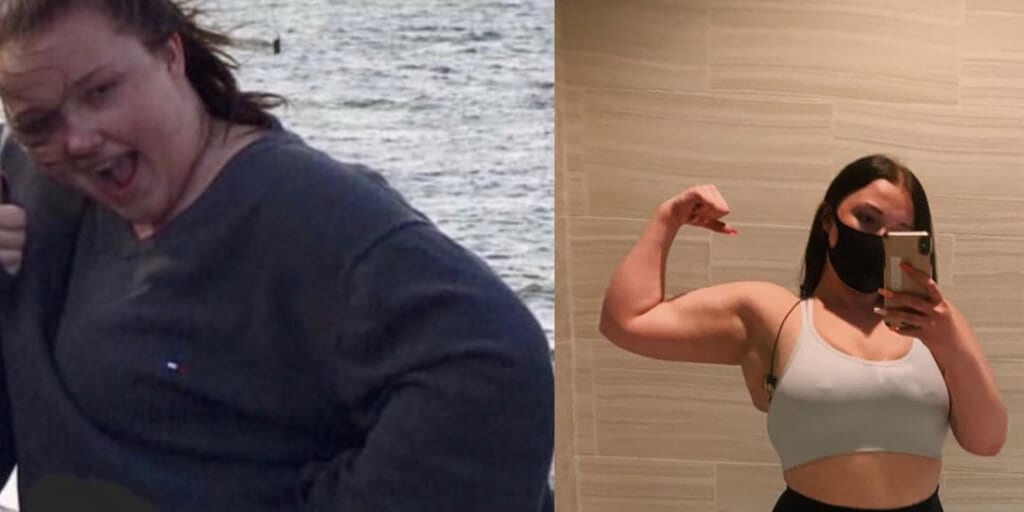 22-year-old kinesiology student says vegan diet and exercise helped her shed 50lb