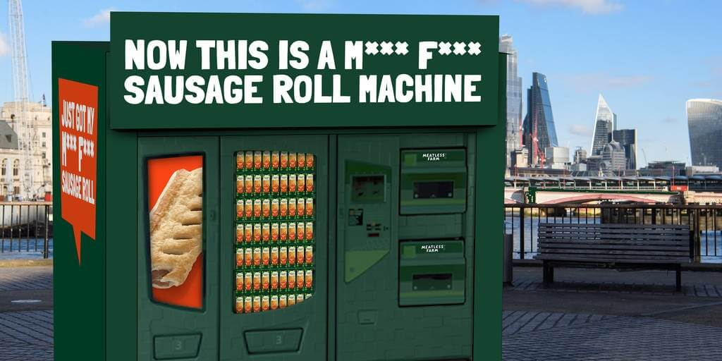 UK's first plant-based sausage roll vending machine launches next week