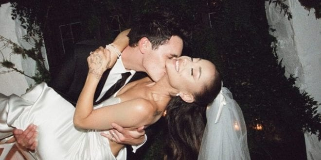 Ariana Grande and Dalton Gomez gifted vegan bicycle for their wedding