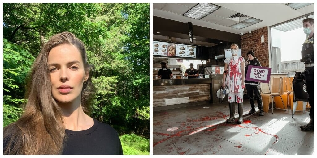 Activist and model Robyn Lawley praises serial vegan protestor for 'storming' KFC