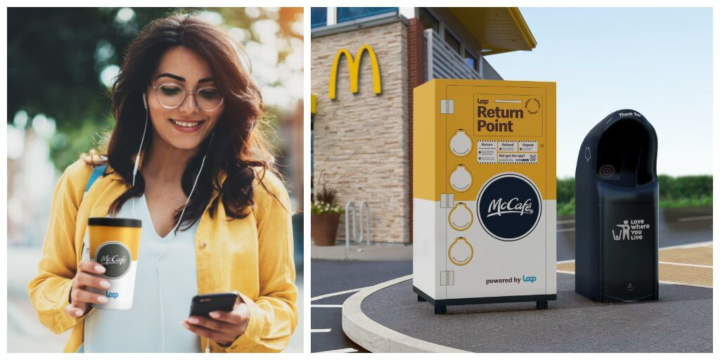 McDonald's rolls out reusable coffee cups at select locations in the UK