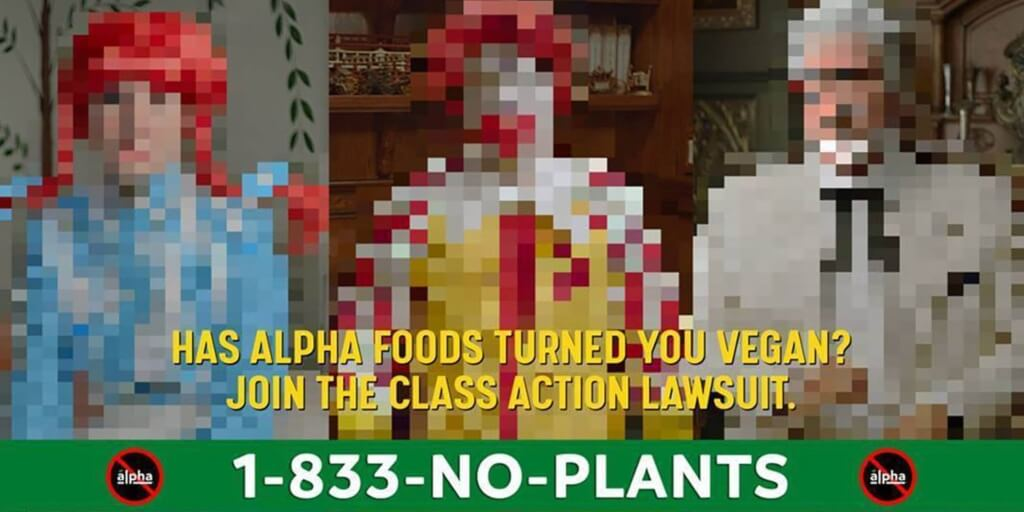 Three fast foods mascots are suing Alpha Foods