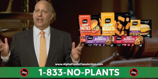 Fast food mascots are suing Alpha Foods